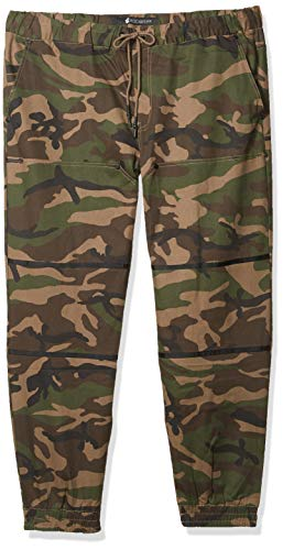 Rocawear Men's Woven Jogger, Camouflage, 3XB