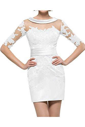 Kleider Ballkleider Brautmutterkleider La mit Abendkleider Braut Kurzarm Weiß Jugendweihe Gelb mia Sexy Mini Damen x08Rwv0pq