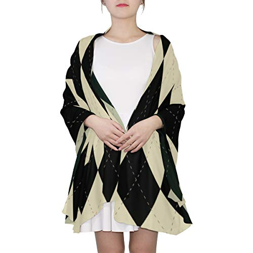 Neat Diamond Pattern Unique Fashion Scarf For Women Lightweight Fashion Fall Winter Print Scarves Shawl Wraps Gifts For Early Spring