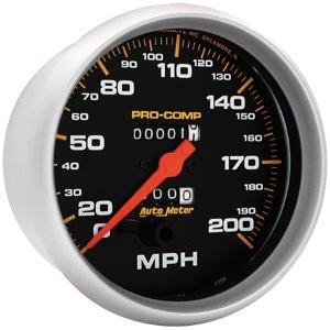 [Auto Meter 5156 Pro-Comp Mechanical In-Dash Speedometer] (Autometer Pro Comp Pressure Gauge)