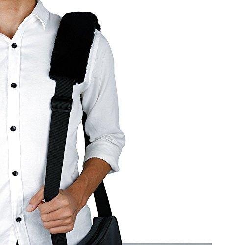 Amaza 2Pcs Auto Voiture Coussin de Protège Ceinture de Sécurité de Véhicule Confortable Protection Epaule Cou en Velours Daim Coussin de Siège de Voiture (Noir) 50%OFF