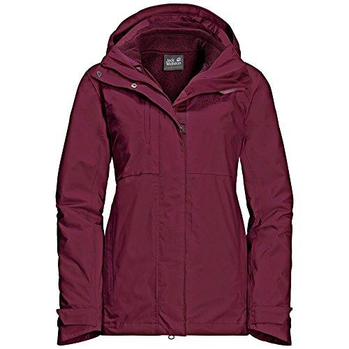 1 In 3 Wolfskin Pass Red Jack Garnet Womens small Echo Jacket qaOfXwYnF