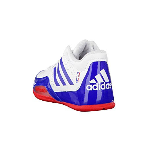 adidas 3 Series 2015 NBA K - Zapatillas para niño, color blanco / azul / rojo