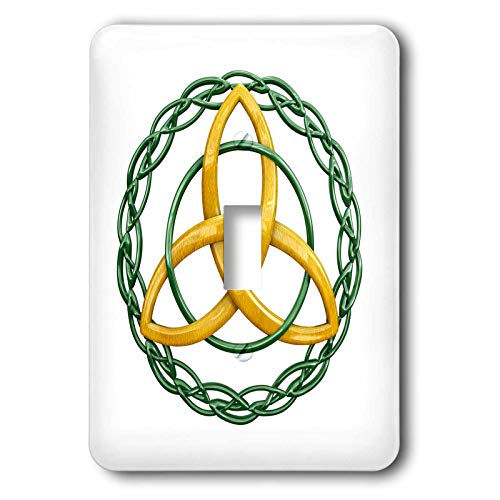 3dRose MacDonald Creative Studios - Celtic - The Triquetra, or trinity knot, is a celtic symbol for Holy Trinity. - Light Switch Covers - single toggle switch - Celtic Knot Metal