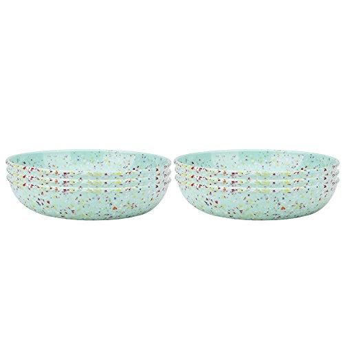- Zak Designs 2316-4230-ISET Confetti Pasta Bowls, Set, Mint PB