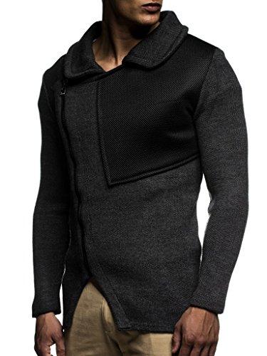 Hommes Des Pullover Zipper Cardigan Arrêtez Hoodie Ln20703 Nelson D'hiver Anthrazit vous Pour Sweat Veste Leif EXqt1n