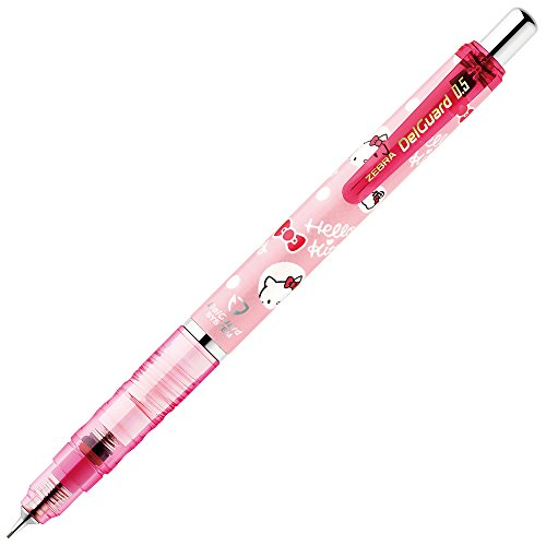 Hello Kitty Pencil - Zebra Sanrio Hello Kitty Mechanical Pencil DelGuard Series (0.5mm, PINK)