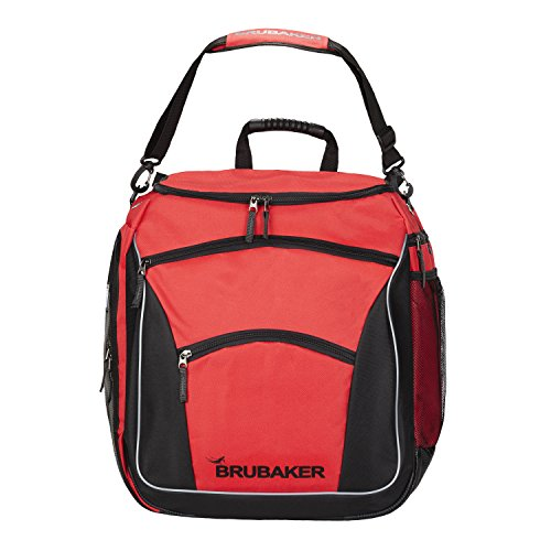 BRUBAKER Winter Sports Ski Boot Bag Professional Backpack Black Red by BRUBAKER