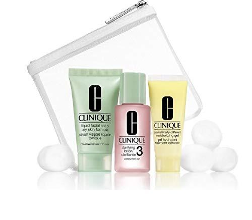 Clinique Skincare 3 Piece Travel Set Combination Oily