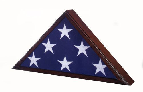 Flag Case for 5'x9.5' Veteran Burial Flag - Cherry Finish