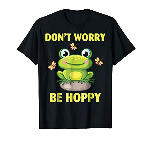 Don't Worry Be Hoppy Shirt Cute Crazy Frog T-shirt ()