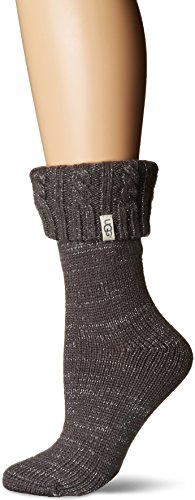 UGG Women's Sparkle Short Rainboot Sock, charcoal/silver, for sale  Delivered anywhere in USA