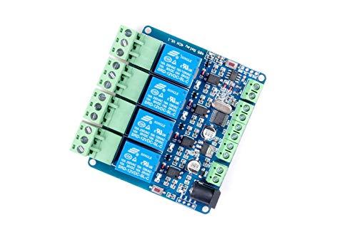 Modbus-rtu 4-Way Relay Module Output 4 Input Channel Switch TTL / RS485 Communication Interface