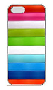 Aero Colorful 21 Cover Case Skin for iPhone 5 5S Hard PC Transparent