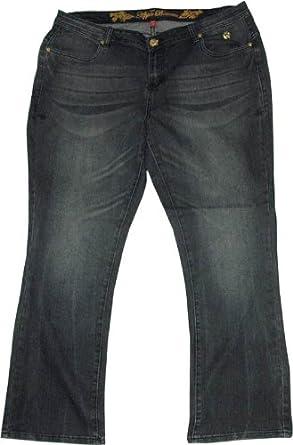 New Ladies Apple Bottom Plus Size Bootcut Blue Jeans Size 16 18 20 ...
