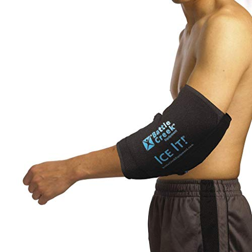 Cold & Hot Therapy System Ice Pack Wrap for Ankle, Elbow and Foot - Ice It!® MaxCOMFORTTM (Ankle/Elbow/Foot Design; 10 ½