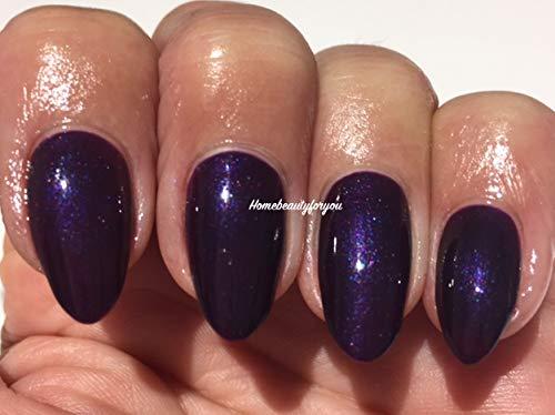 Blue Sky 80524 Rock Royalty Deep Violet foncé Plum Shimmer Vernis à ongles gel UV LED Soak Off 10 ml Plus 2 LuvliNail Shine Wipes