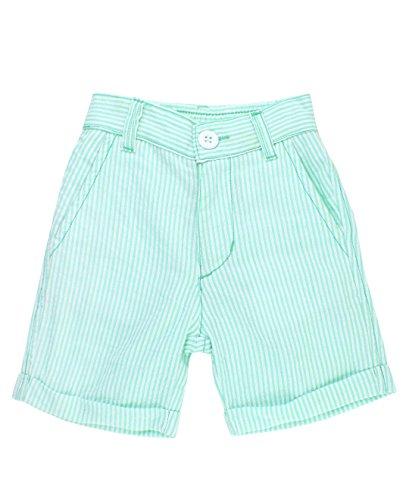 RuggedButts Little Boys Mint Seersucker Shorts - 2T
