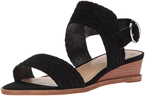Vince Camuto Women's Raner Sandal, Black, 7.5 Medium US by Vince Camuto