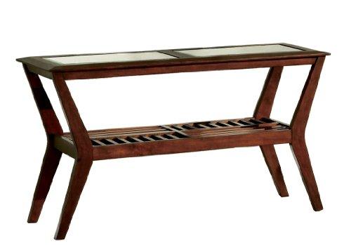 Furniture of America Bruin Sofa Table, Dark Cherry