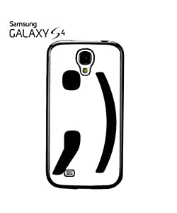 Blink Text Icon Smiley Face Mobile Cell Phone Case Samsung Galaxy S4 White