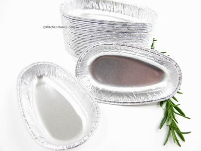 (Disposable Aluminum Potato Shell Pans for Twice Baked Potatoes and Mashed Potato Boats #8100 (500))
