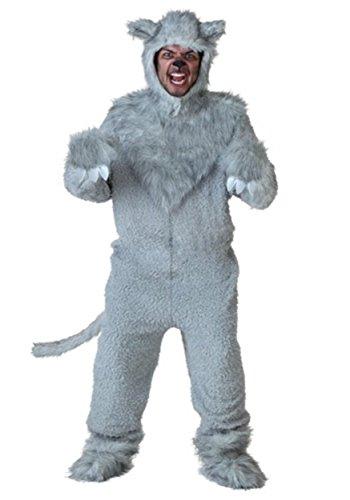 Bad Adult Costume - Adult Wolf Costume Standard