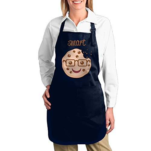 Dogquxio Smart Cookie Kitchen Helper Professional Bib Apron With 2 Pockets For Women Men Adults Navy
