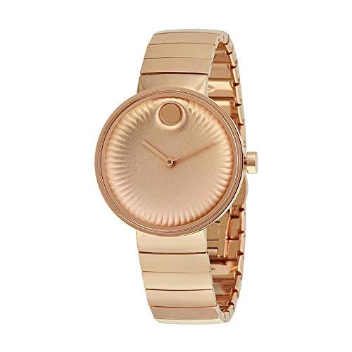 Movado Edge Rose Gold Toned Aluminum Dial Quartz Womens Watch 3680013 ()