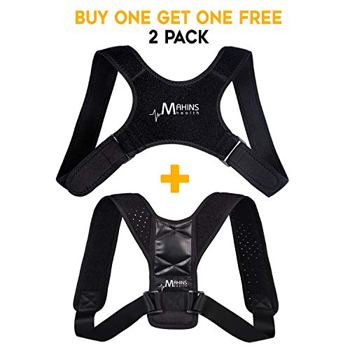 Body Wellness Posture Corrector Brace for Women and Men, Adjustable Harness, Device for Spine Alignment, Eliminates Slouching, Clavicle and Lumbar Support - Providing Neck, Back & Shoulder Pain Relief ()