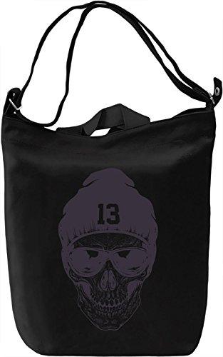 Hipster skull Borsa Giornaliera Canvas Canvas Day Bag| 100% Premium Cotton Canvas| DTG Printing|