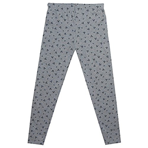 Disney Juniors Mickey Mouse Head Dots Leggings Heathered Grey Small
