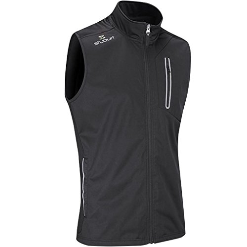 Stuburt Golf 2017 Mens Endurance Sports Thermal Full Zip WindProof Gilet Vest Black Medium