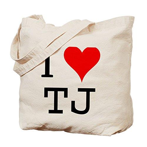 CafePress–I Love TJ Tote Bag–Natural gamuza de bolsa de lona bolsa, bolsa de la compra