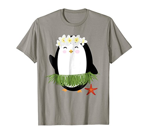 Hawaiian Hula Penguin T-Shirt Luau Party Hawaii Gift for Her ()