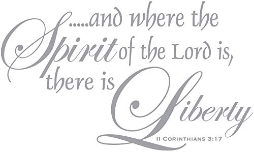 Omega II Corinthians 3:17 - ...and Where The Spirit... Vinyl Decal Sticker Quote - Large - Metallic Silver