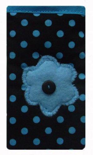 Sombre bleu ˆ pois imprimŽ Apple iPhone chaussette SE / Case / couverture