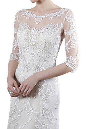 Prodotto di alta qualità con maniche TOSKANA sposa vestimento lungo tempo vestimento punta, principessa alto