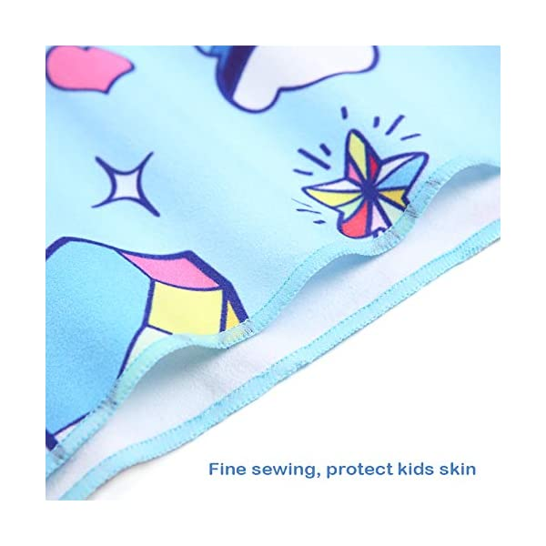 Poncho con Cappuccio Bagno per Bambini Asciugamani con Asciugamano da Bagno Asciugamano da Spiaggia Microfibra… 7 spesavip