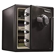 The SentrySafe SFW123EU Fireproof Safe and Waterproof Safe offers ETL Verified water protection and UL Classified fire protection for your important documents, digital media, and other valuables. This safe is also equipped to protect from unw...