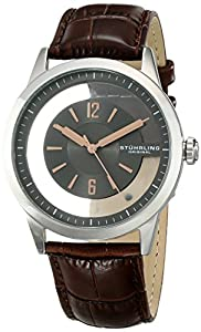 Amazon.com: Stuhrling Original Men\u0026#39;s 946.02 Winchester Transparent ...