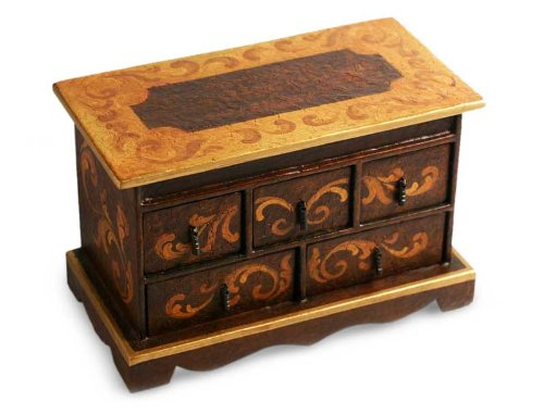 NOVICA 161834 Longing' Cedar Chest of Drawers