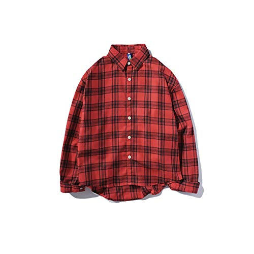 Easy Lunghe Go Camicia In Manica Cotone A Autunno Red Da Lunga Shopping Uomo Maniche QxhdCstrB