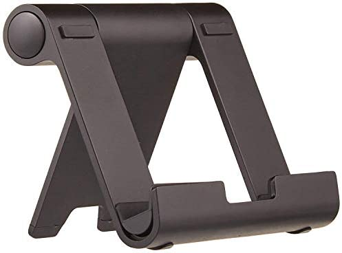 AmazonBasics Multi-Angle Portable Stand for iPad Tablet, E-reader and Phone – Black
