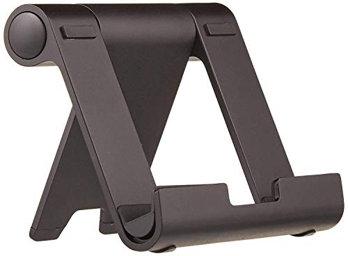 AmazonBasics Multi-Angle Portable Stand for iPad Tablet, E-reader and Phone - Silver