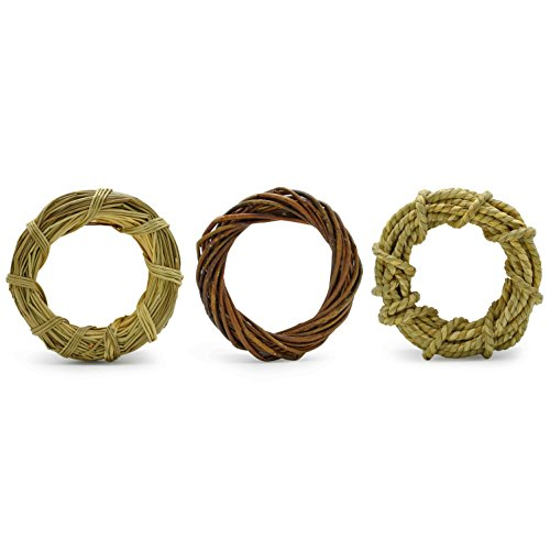 Niteangel 3-Pack of Natural Chew Ring for Small Animals