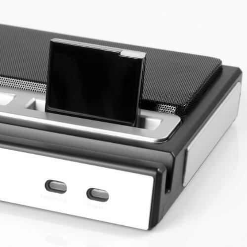 SODIAL(R) Receptor de Musica Bluetooth A2DP para Apple iPad iPod iPhone 30-Pin Base Estacion de Altavoz