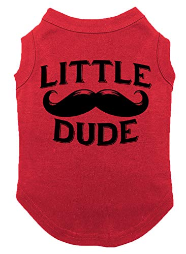 Tcombo Little Dude Dog Shirt (Red, -