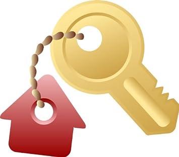 Amazon.com: Real estate pared calcomanías – Llavero con casa ...