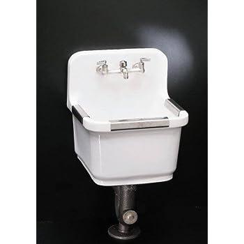 Kohler K 6650 0 Sudbury Service Sink White Utility Sink Faucets